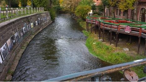 Vilna River at Užupis Café, Republic of Užupis, 2013, photo by Lamont Steptoe
